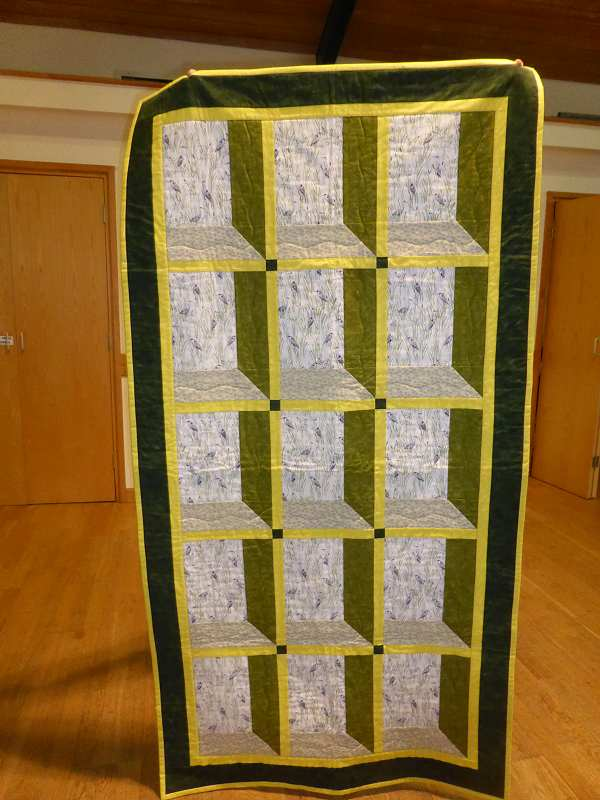 "Alison made this attic window quilt for ""When I get old""."