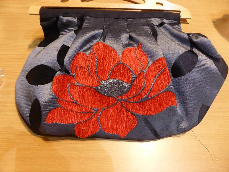 Grace has made this stunning bag using furnishing fabric.