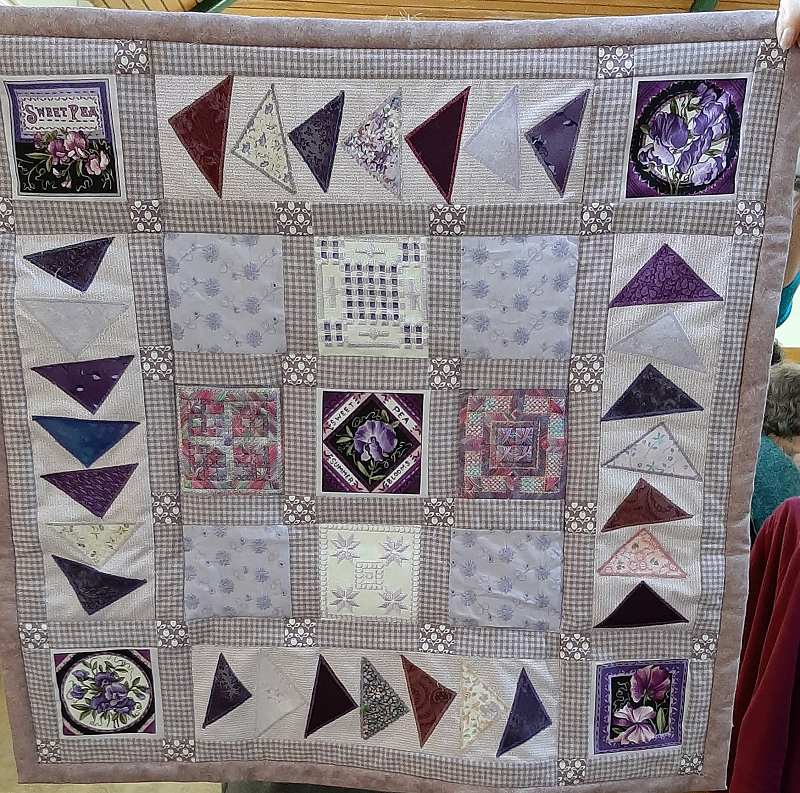 This lovely quilt is Hazel's first and the back is as good as the front.
